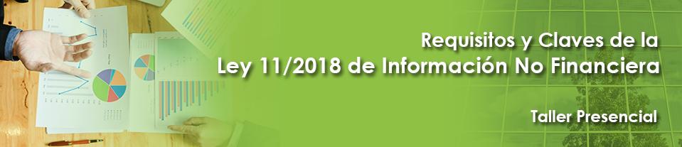 Taller presencial Ley 11/2018 de Información No Financiera