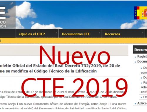 Aprobado el Real Decreto 732/2019 de modificación del Código Técnico de la Edificación